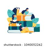 vector illustration people... | Shutterstock .eps vector #1040052262
