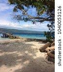 scene of tranquility island ... | Shutterstock . vector #1040053126