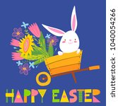 cute vector card with easter... | Shutterstock .eps vector #1040054266