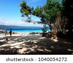 scene of tranquility island ... | Shutterstock . vector #1040054272