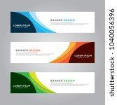 abstract modern banner...   Shutterstock .eps vector #1040056396