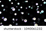 holographic bubbles on black....   Shutterstock . vector #1040061232