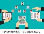 vacancy in the organizational... | Shutterstock .eps vector #1040065672