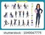set of businesswoman character... | Shutterstock .eps vector #1040067775