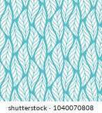 vector leaf seamless pattern.... | Shutterstock .eps vector #1040070808