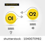 two yellow dotted infographic... | Shutterstock .eps vector #1040070982
