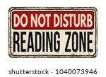 do not disturb  reading zone... | Shutterstock .eps vector #1040073946