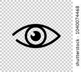 simple eye icon. on transparent ... | Shutterstock .eps vector #1040074468