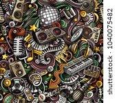 cartoon cute doodles disco... | Shutterstock .eps vector #1040075482