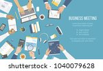 business meeting and... | Shutterstock .eps vector #1040079628