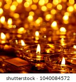 flame candle oil lamps for the...   Shutterstock . vector #1040084572