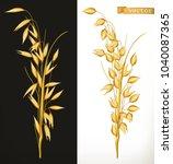 oat. 3d realistic vector icon | Shutterstock .eps vector #1040087365