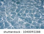 surface of blue swimming pool... | Shutterstock . vector #1040092288