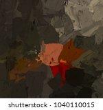 oil painting on canvas handmade.... | Shutterstock . vector #1040110015