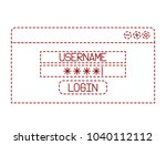 login template isolated icon