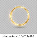 abstract luxury golden ring.... | Shutterstock .eps vector #1040116186