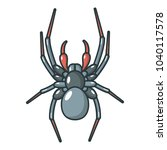 spider icon. cartoon... | Shutterstock .eps vector #1040117578
