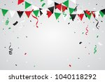 green and red black confetti... | Shutterstock .eps vector #1040118292