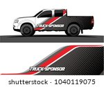 truck and vehicle graphic... | Shutterstock .eps vector #1040119075