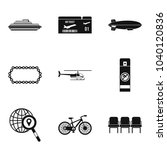 expedition icons set. simple...   Shutterstock .eps vector #1040120836