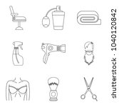 accurate icons set. outline set ...   Shutterstock .eps vector #1040120842