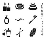 hygienic thing icons set.... | Shutterstock .eps vector #1040123266