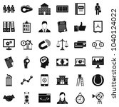 partnership icons set. simple... | Shutterstock .eps vector #1040124022