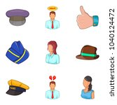description of personnel icons... | Shutterstock .eps vector #1040124472