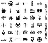 parking place icons set. simple ... | Shutterstock .eps vector #1040124505