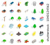 park territory icons set.... | Shutterstock .eps vector #1040124562
