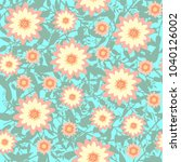seamless pattern with abstract... | Shutterstock .eps vector #1040126002