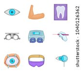 surgical procedure icons set.... | Shutterstock .eps vector #1040126362