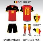 uniform football design. red... | Shutterstock .eps vector #1040131756