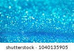 Blue Defocused Glitter...