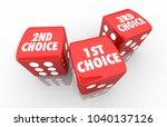 1st 2nd 3rd choice first second ... | Shutterstock . vector #1040137126