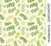 vector green fresh leaf... | Shutterstock .eps vector #1040144245