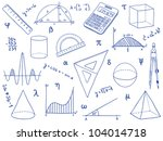 illustration of mathematics  ... | Shutterstock .eps vector #104014718