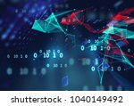 digital code number abstract... | Shutterstock . vector #1040149492