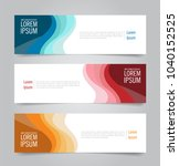 modern colorful banner template.... | Shutterstock .eps vector #1040152525