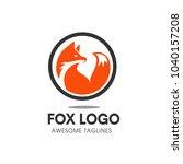 Stock vector creative circle fox logo vector round fox logo template 1040157208
