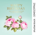 happy birthday card template on ... | Shutterstock .eps vector #1040159962