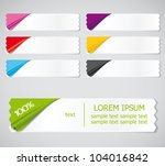 vector set of colored stickers  ... | Shutterstock .eps vector #104016842