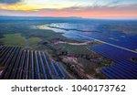 aerial solar pv panels outdoors ... | Shutterstock . vector #1040173762