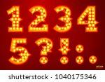 vector realistic glowing... | Shutterstock .eps vector #1040175346