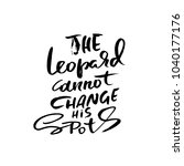 the leopard cannot change his...   Shutterstock .eps vector #1040177176