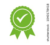approved certified icon.... | Shutterstock .eps vector #1040178418