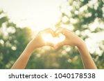 Female Hands Heart Shape On...