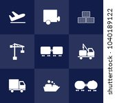 logistic and shipping icons on... | Shutterstock .eps vector #1040189122
