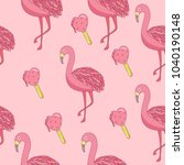 seamless pattern with cartoon... | Shutterstock .eps vector #1040190148