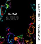 neon colors on a black... | Shutterstock .eps vector #1040193496